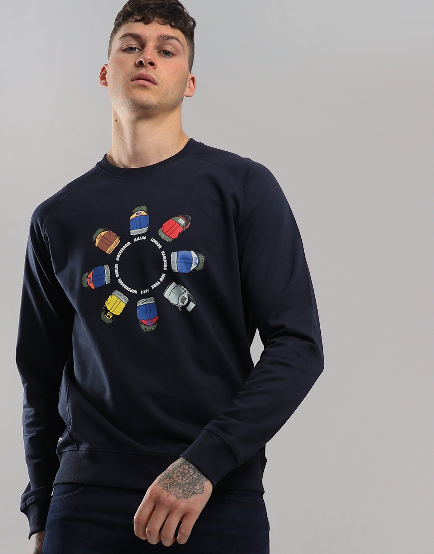 Weekend Offender Heel Wheel Sweat Navy