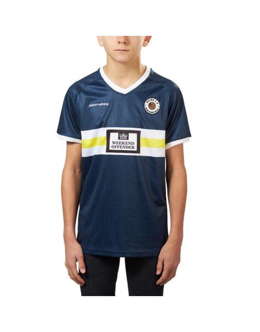 sports shoes daf69 53b04 Weekend Offender Kids Football T-Shirt Navy