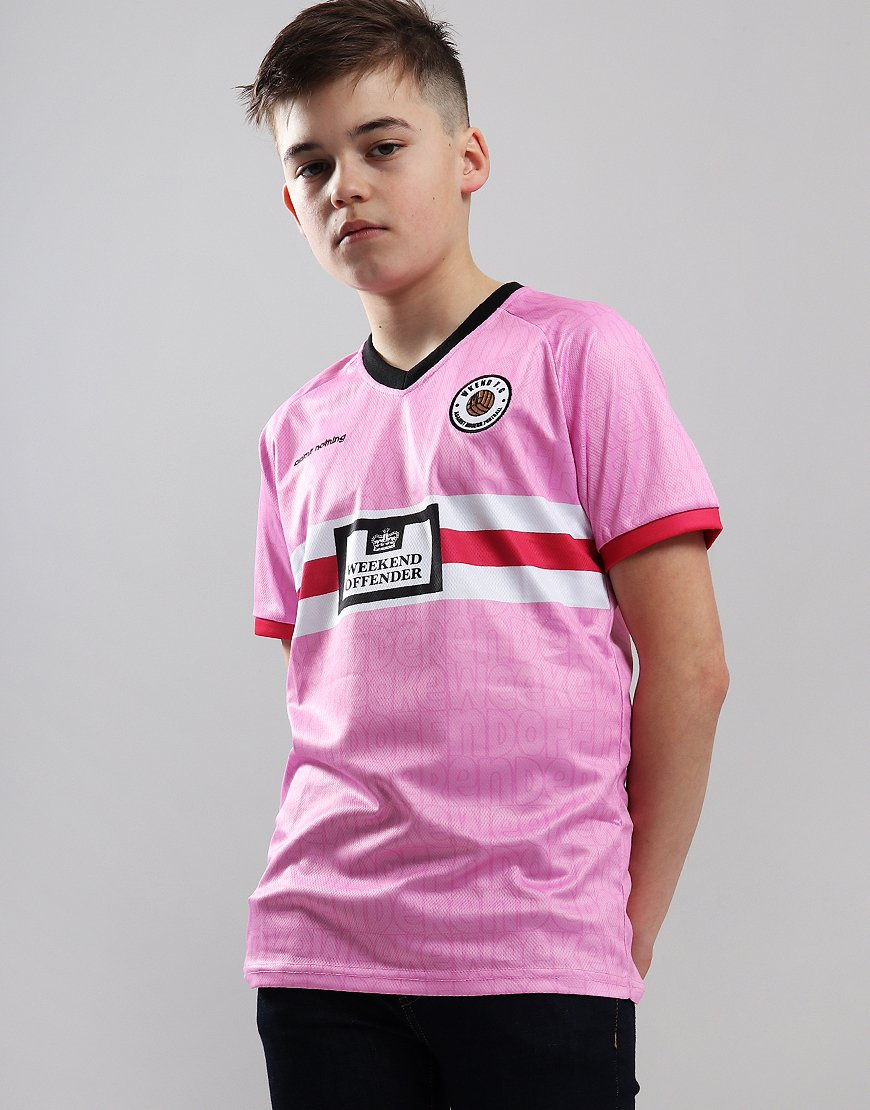 more photos 91f3b 34c2c Weekend Offender Kids Football T-Shirt Pink