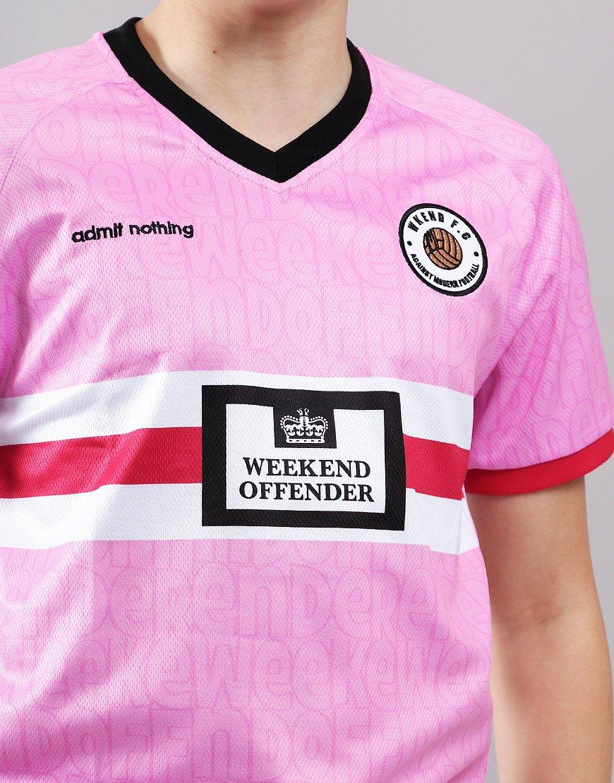 more photos 635b7 9dde2 Weekend Offender Kids Football T-Shirt Pink