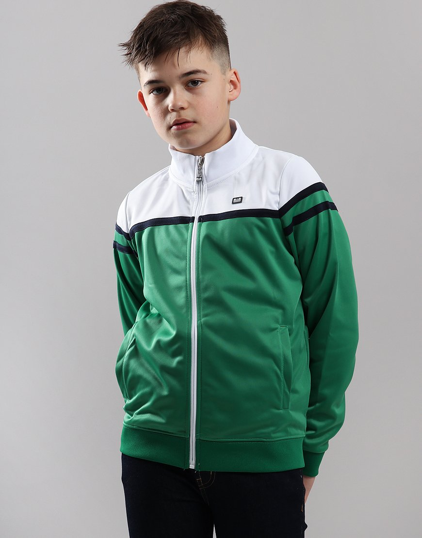 Weekend Offender Kids Moore Track Top Green