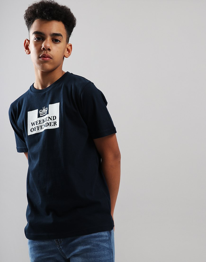 Weekend Offender Kids Prison T-Shirt Navy