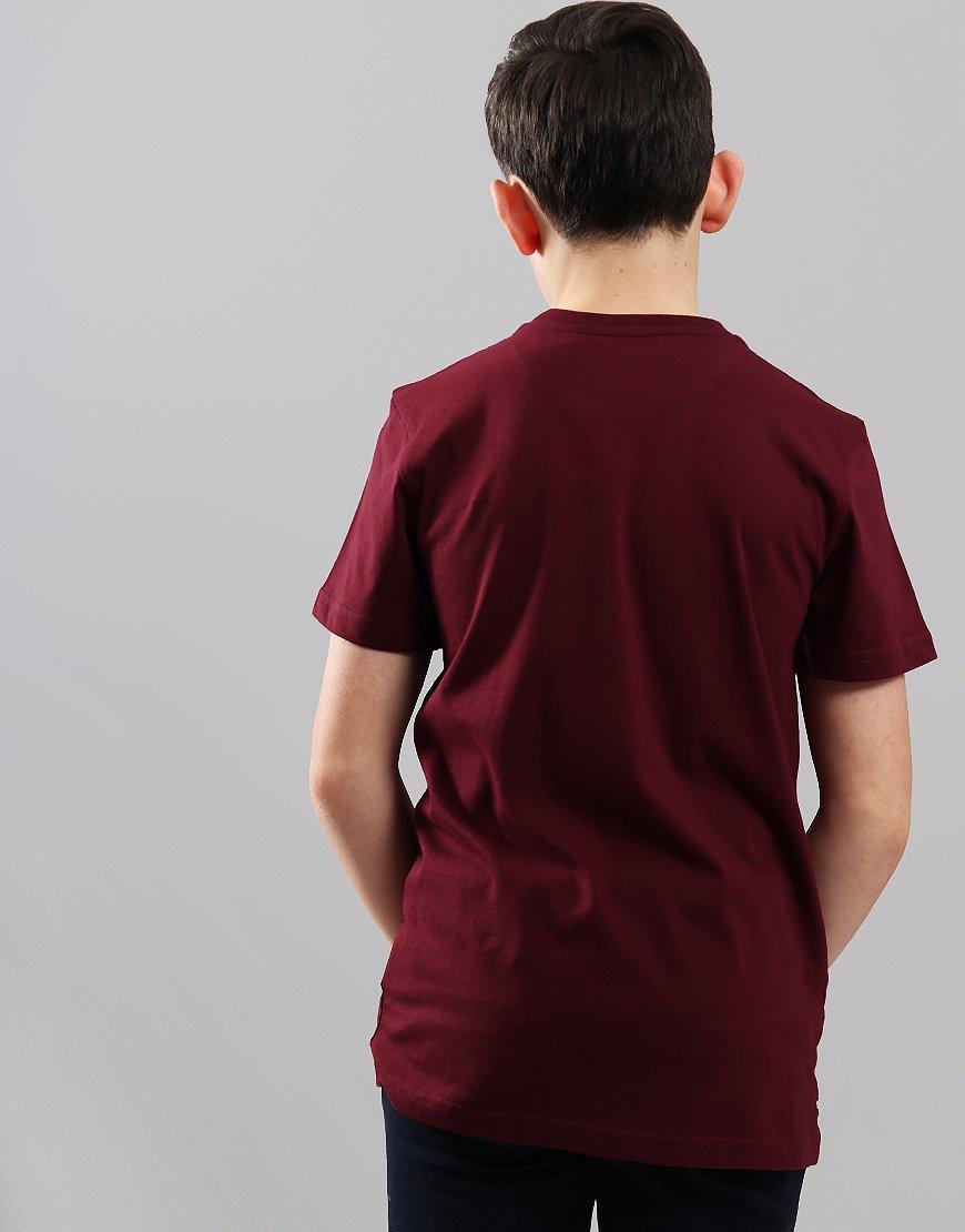 207fb674 Weekend Offender Kids Saxthorpe T-Shirt Garnet - Terraces Menswear
