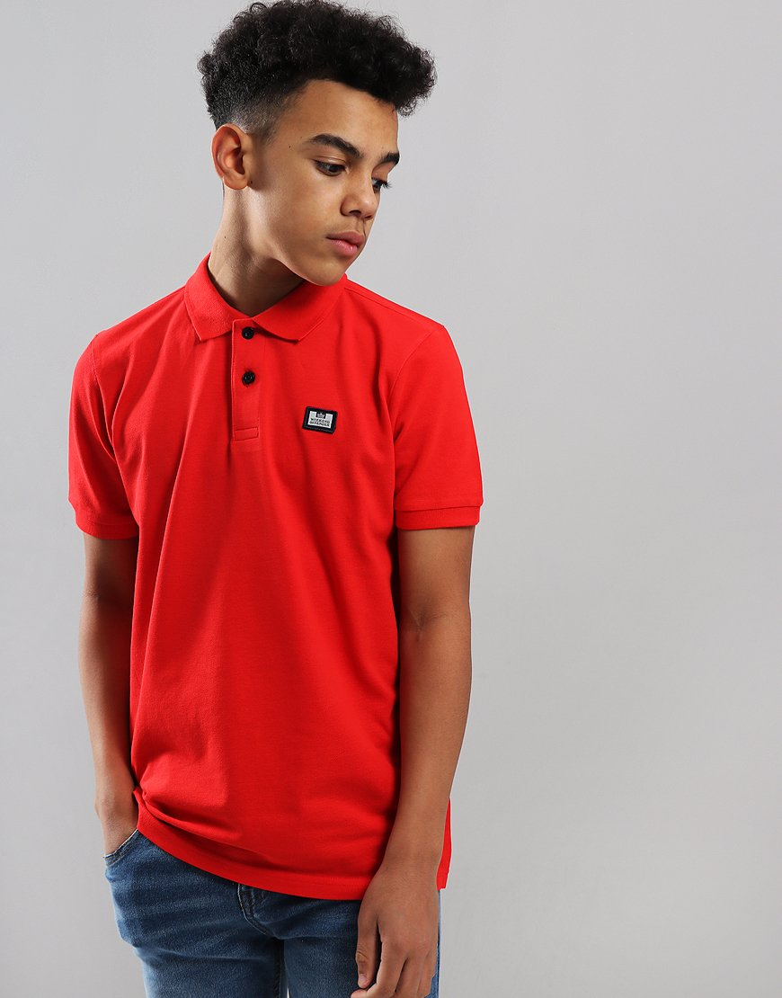 Weekend Offender Kids Slater Polo Shirt Chilli