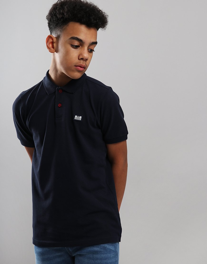 Weekend Offender Kids Slater Polo Shirt Navy