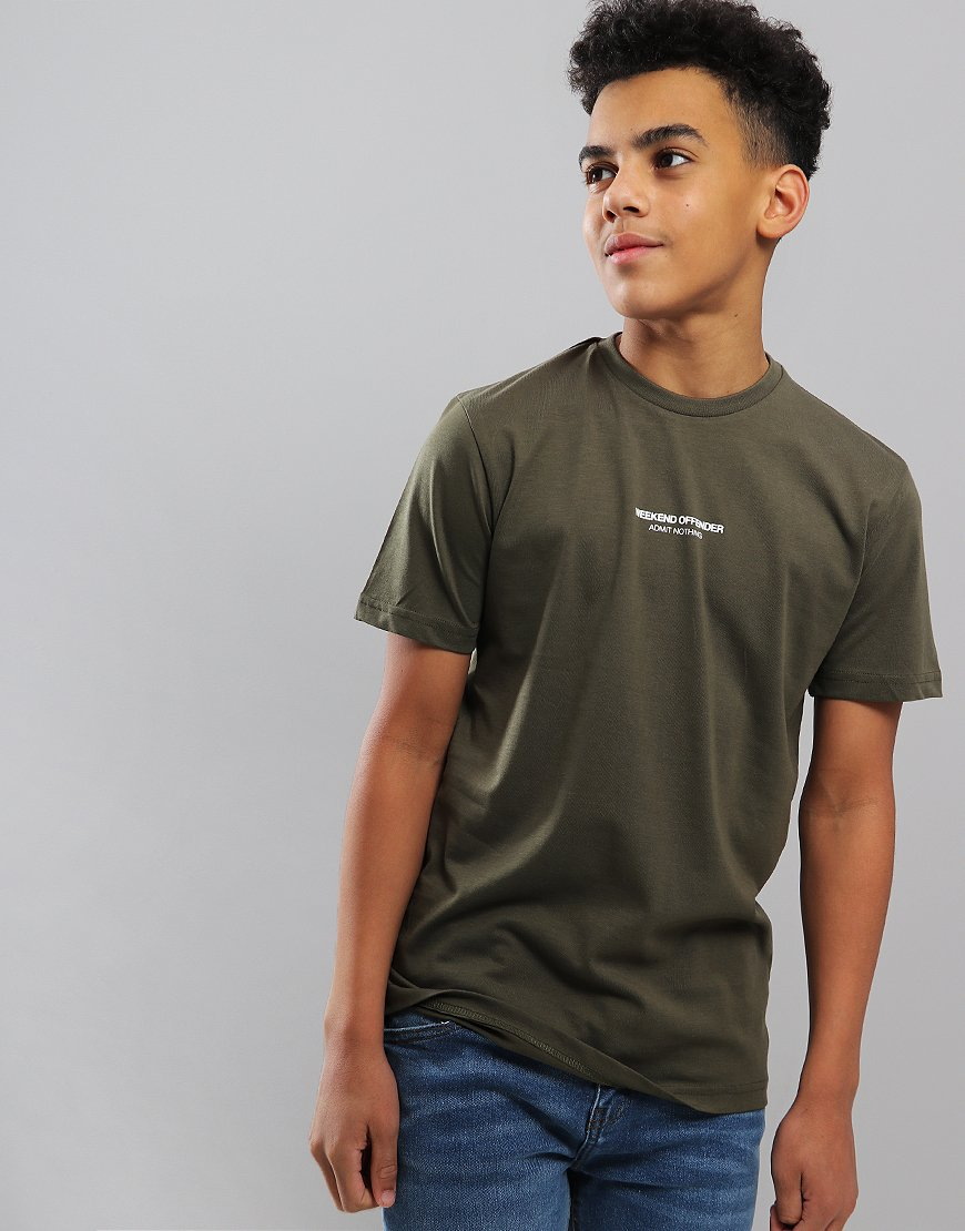 Weekend Offender Kids Zavaretti T-Shirt Dark Khaki