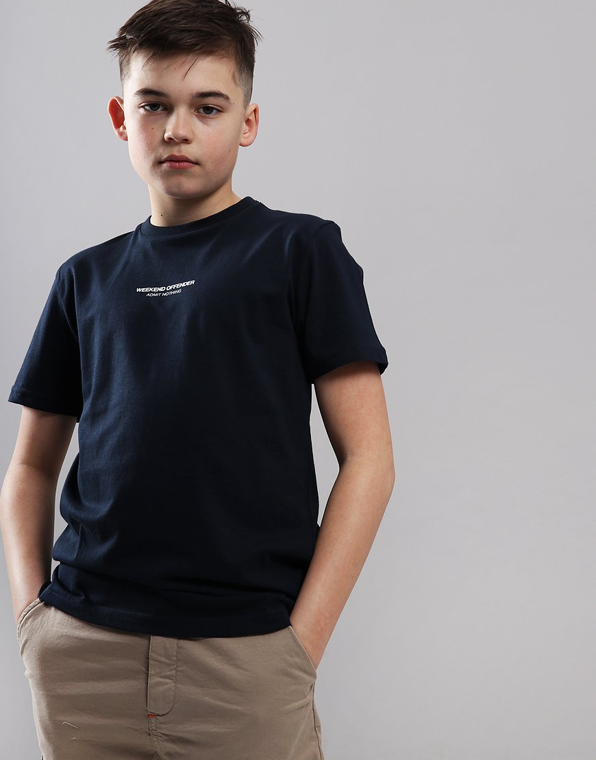 Weekend Offender Kids Zavaretti T-Shirt Navy