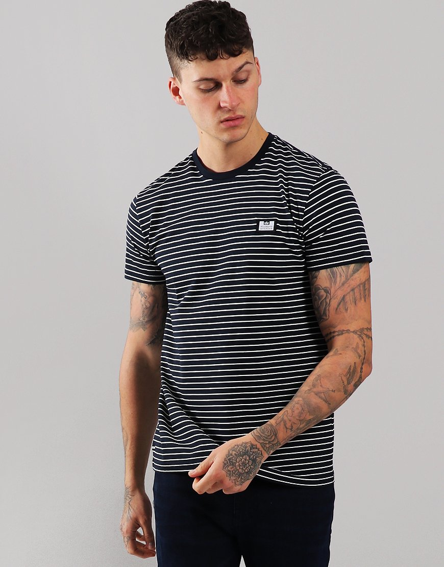 Weekend Offender Lester T-Shirt Navy/White