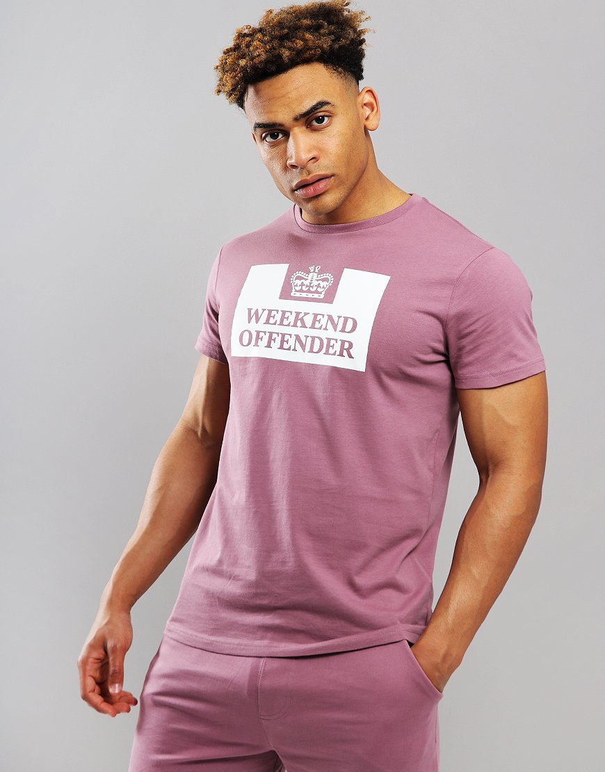 Weekend Offender Prison T-Shirt Plum