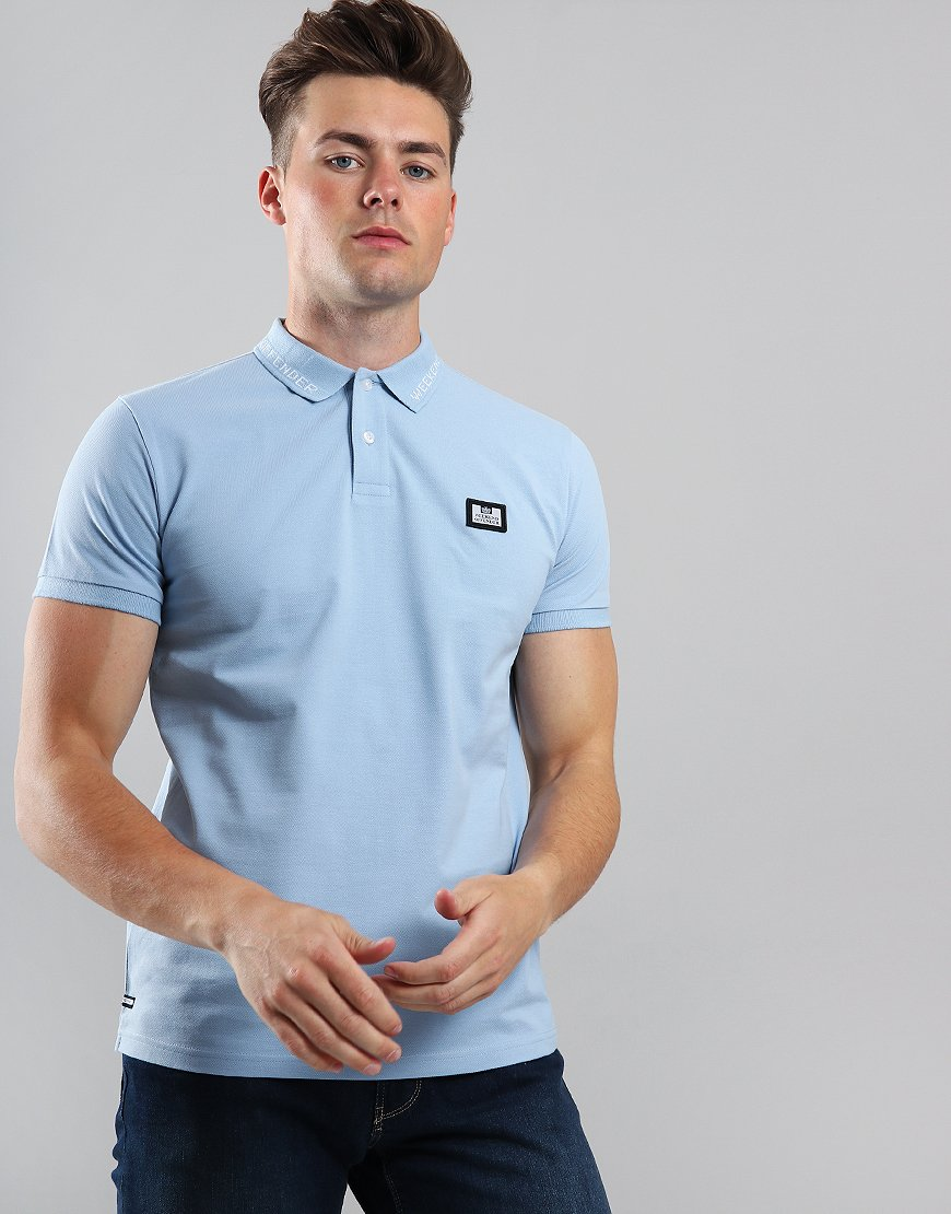 Weekend Offender Avon Polo Shirt Sky
