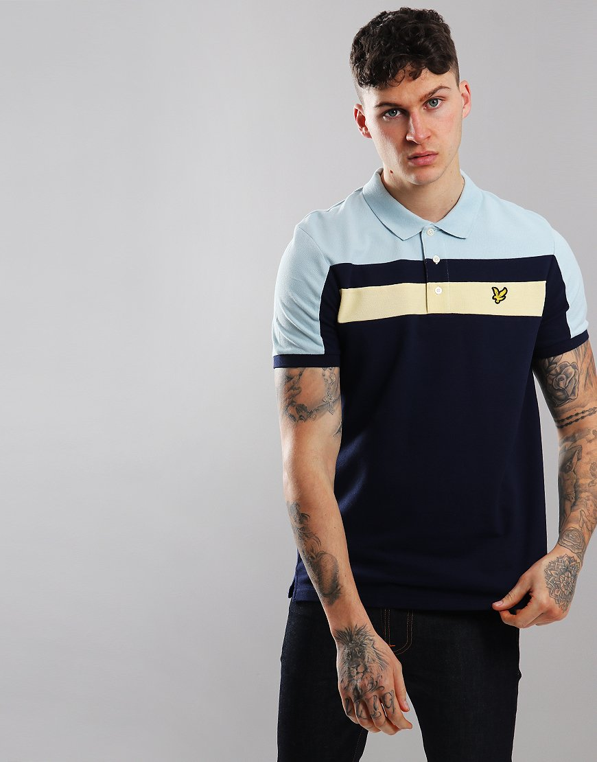 b08326ae Lyle & Scott Block Polo Shirt Navy - Terraces Menswear