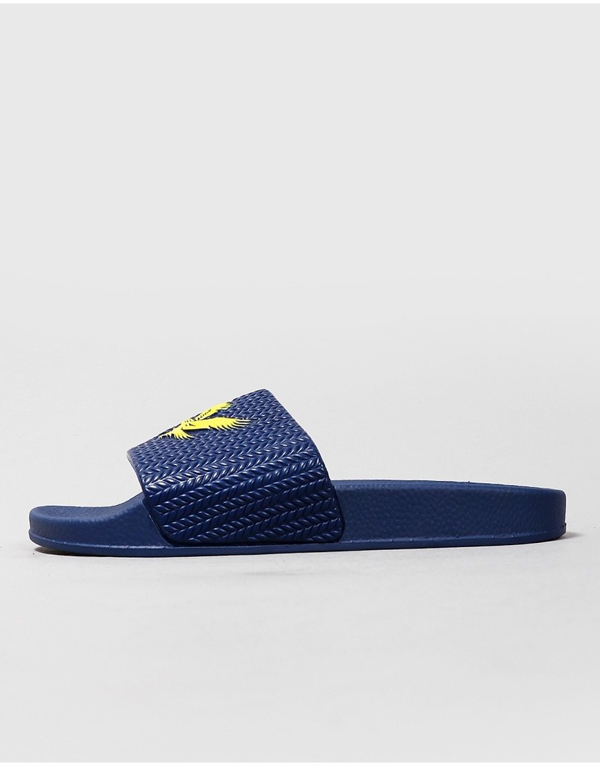 Lyle & Scott Junior Eagle Sliders Navy